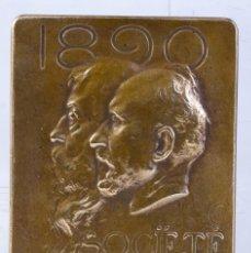 Medallas históricas: MEDALLA EN BRONCE SOCIETE NATIONALE DES BEAUX ARTS 1890 - 58 X 39 MM. Lote 194149123