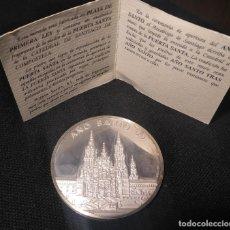 Medallas históricas: MONEDA MEDALLA FRAGMENTO PUERTA SANTA 1999 EN PLATA. Lote 194215042