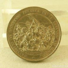 Medallas históricas: MEDALLA GALLEGA APARICION DE SANTIAGO APOSTOL EN LA BATALLA DE CLAVIJO (J.PAZ 904) CATEDRAL. Lote 194314166