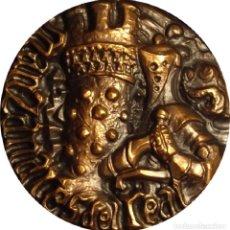 Medallas históricas: ESPAÑA. MEDALLA F.N.M.T. DEDICADA A MANZANARES DEL REAL. 1.968. BRONCE. Lote 194321233