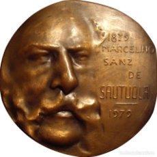 Medallas históricas: ESPAÑA. MEDALLA F.N.M.T. MARCELINO SANZ DE SAUTUOLA. CUEVAS ALTAMIRA. 1.979. BRONCE. Lote 194323151