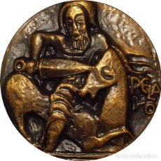 Medallas históricas: ESPAÑA. MEDALLA DE LA F.N.M.T. DEDICADA A LA RECONQUISTA Y PELAYO. 1.969. BRONCE. Lote 194329002