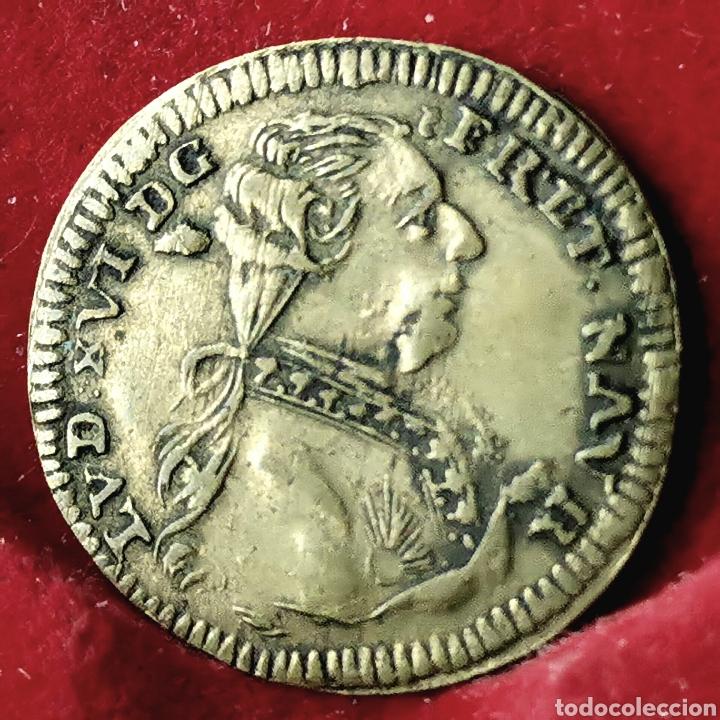 FRANCIA JETÓN DE CUENTAS LOUIS XVI 1791 (Numismática - Medallería - Histórica)