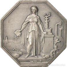 Medallas históricas: FRANCIA. JETÓN DE LA SOCIEDAD GENERAL DE CRÉDITO INDUSTRIAL Y COMERCIAL. 1.859. PLATA. Lote 194362990