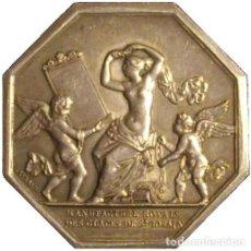 Medallas históricas: FRANCIA. JETÓN DE LA REAL FÁBRICA DE CRISTAL. 1.830. PLATA. Lote 194367136