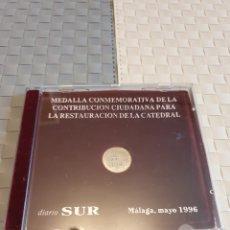 Medallas históricas: MEDALLA CONMEMORATIVA DE LA CONTRIBUCIÓN CIUDADANA PARA RESTAURACIÓN DE LA CATEDRAL MALAGA. Lote 194367765