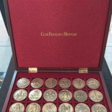 Medallas históricas: NAPOLEON BONAPARTE 24 MEDALLAS BRONCE. Lote 194393910