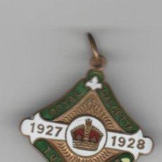 Medallas históricas: INDIA- ROYAL CALCUTTA- TURF CLUB-1927-1928. Lote 194406306