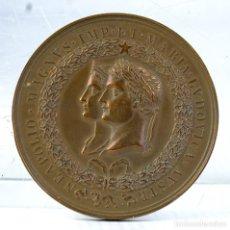 Medallas históricas: MEDALLA EN COBRE NEAPOLIO. MAGNVS. IMP. ET. MARIA. LVDOVICA - 1810 - 50 MM. Lote 194614302