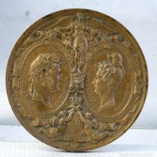 Medallas históricas: MEDALLA EN COBRE S.M FERDINAND II ROI DES DEUX SICILES - LE 12 AOUT 1836 - 75 MM. Lote 194614316