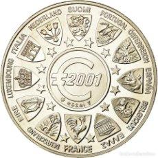 Medallas históricas: FRANCIA, MEDALLA, ESSAI EURO MARIANNE, 2001, MONNAIE DE PARIS, FDC, PLATA. Lote 194686946