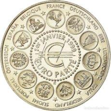 Medallas históricas: FRANCIA, MEDALLA, 1ER JANVIER 1999, EURO PARITÉ, EUROPA, 1999, FDC, COBRE -. Lote 194690422