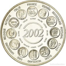 Medallas históricas: FRANCIA, MEDALLA, NAISSANCE DE L'EURO FIDUCIAIRE, 2002, FDC, COBRE - NÍQUEL. Lote 194690420