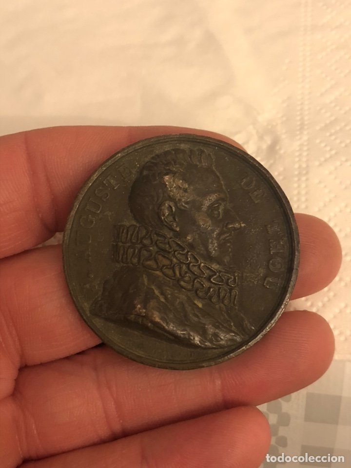 MAGNIFICA MEDALLA ANTIGUA FRANCESA A CLASIFICAR (Numismática - Medallería - Histórica)