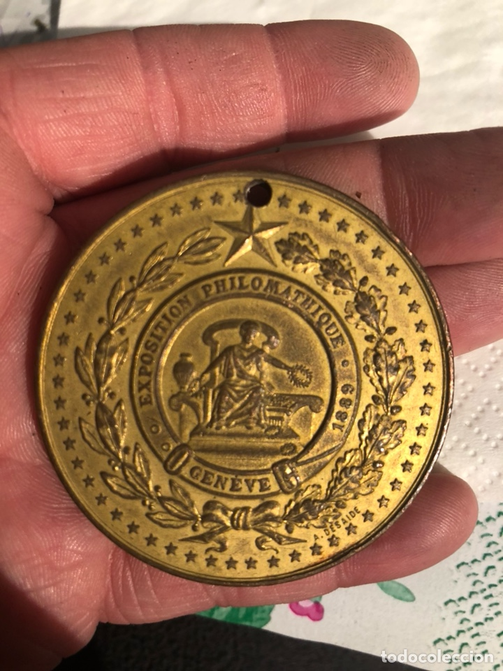 ANTIGUA MEDALLA ANTIGUA ITALIANA 1889, AGUJERO (Numismática - Medallería - Histórica)