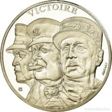Medallas históricas: FRANCIA, MEDALLA, FRENCH FIFTH REPUBLIC, HISTORY, JIMENEZ, FDC, NÍQUEL. Lote 194745553