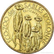 Medallas históricas: FRANCIA, TOKEN, JETÓN TURÍSTICO, LES SABLES D'OLONNE - ZOO - SURICATES, ARTS &. Lote 194746572