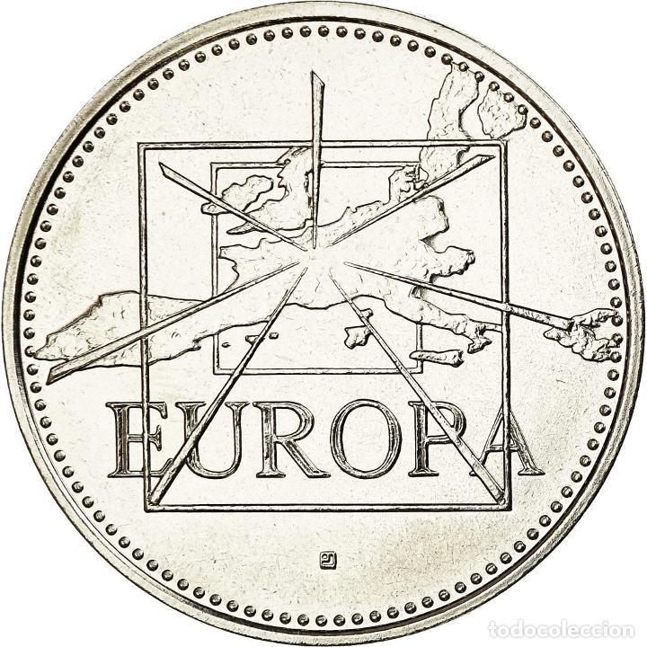 Medallas históricas: Francia, medalla, Écu Europa 1995, French Fifth Republic, Politics, Society - Foto 2 - 194883165