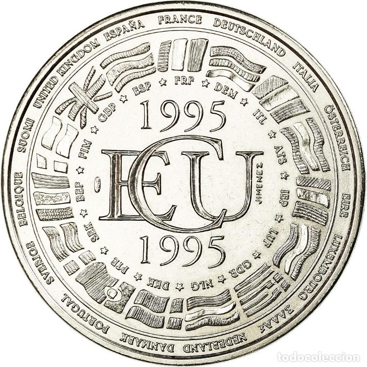 FRANCIA, MEDALLA, ÉCU EUROPA 1995, FRENCH FIFTH REPUBLIC, POLITICS, SOCIETY (Numismática - Medallería - Histórica)