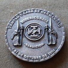 Medallas históricas: SEMANA SANTA DE HUELVA - MEDALLA CONMEMORATIVA BENDICION TEMPLO Y CASA HDAD CRISTO MISERICORDIA 2004. Lote 194990088