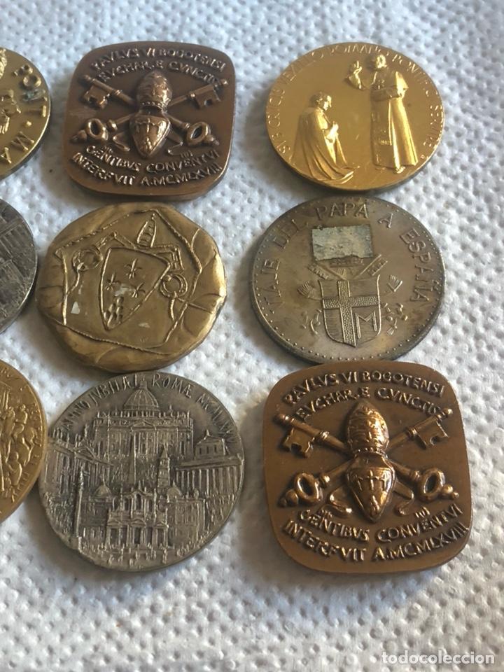 Medallas históricas: Lote de 10 medallas papales antiguas - Foto 5 - 195262383