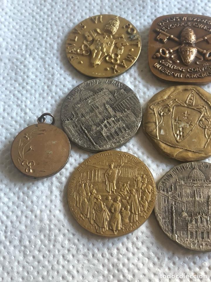 Medallas históricas: Lote de 10 medallas papales antiguas - Foto 6 - 195262383