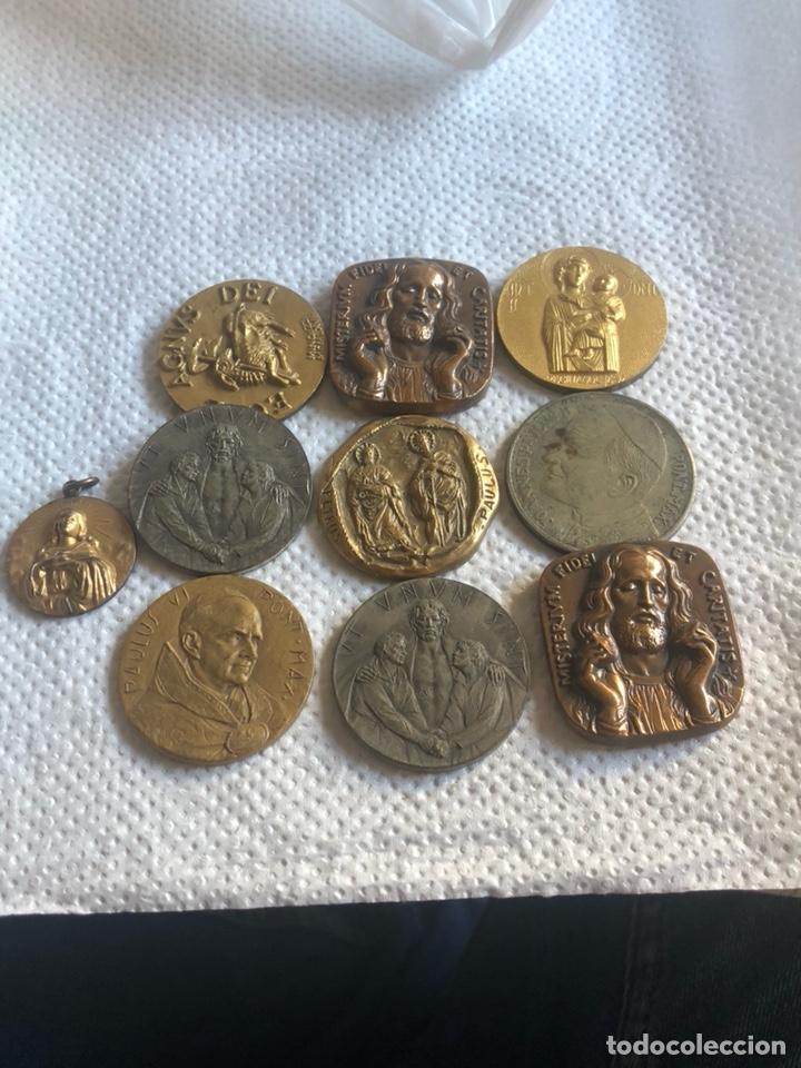 LOTE DE 10 MEDALLAS PAPALES ANTIGUAS (Numismática - Medallería - Histórica)