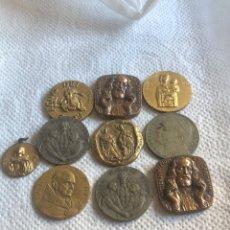 Medallas históricas: LOTE DE 10 MEDALLAS PAPALES ANTIGUAS. Lote 195262383