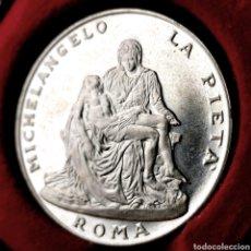Medallas históricas: PLATA. PROBABLEMENTE LEY .925. VATICANO, LA PIETÁ. Lote 195265017
