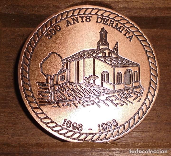 MEDALLA 300 ANYS D'ERMITA, SANT ROC PATRO DE MUSEROS (Numismática - Medallería - Histórica)