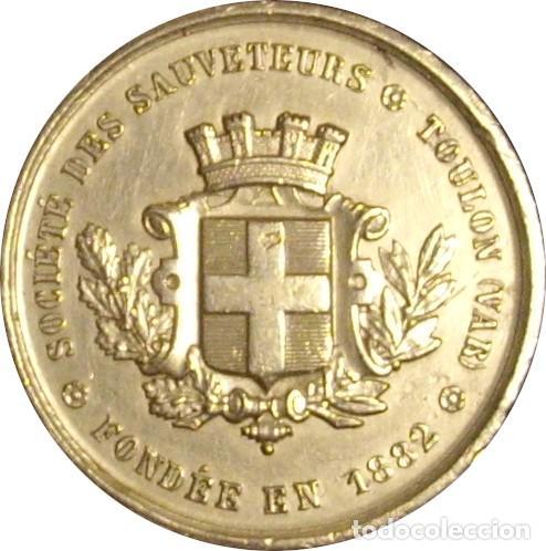 FRANCIA. MEDALLA DE LA SOCIEDAD DE SALVAMENTO DE TOULON. 1.882 (Numismática - Medallería - Histórica)