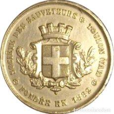 Medallas históricas: FRANCIA. MEDALLA DE LA SOCIEDAD DE SALVAMENTO DE TOULON. 1.882. Lote 195379537