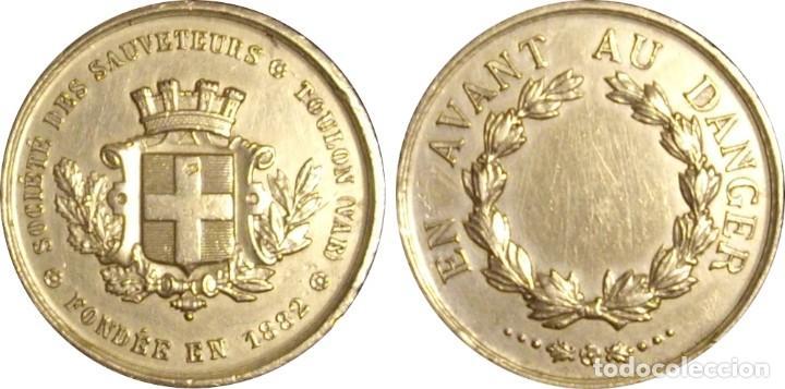 Medallas históricas: FRANCIA. MEDALLA DE LA SOCIEDAD DE SALVAMENTO DE TOULON. 1.882 - Foto 3 - 195379537