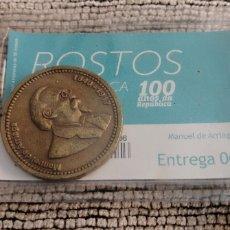 Medallas históricas: 100 AÑOS REPÚBLICA PORTUGAL. MANUEL DE ARRIAGA. Lote 195459502