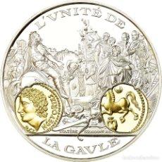 Medallas históricas: FRANCIA, MEDALLA, HISTOIRE MONÉTAIRE, STATÈRE VERCINGÉTORIX, FDC, PLATA. Lote 195489768