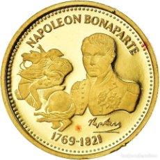 Medallas históricas: FRANCIA, MEDALLA, NAPOLÉON BONAPARTE, HISTORY, FDC, ORO. Lote 195489776