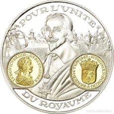 Medallas históricas: FRANCIA, MEDALLA, HISTOIRE MONÉTAIRE, ECU D'ARGENT, LOUIS XIII, FDC, PLATA. Lote 195490080