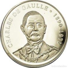 Medallas históricas: FRANCIA, MEDALLA, LES PRÉSIDENTS DE LA RÉPUBLIQUE, CHARLES DE GAULLE, FDC. Lote 195491907