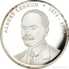 Medallas históricas: FRANCIA, MEDALLA, LES PRÉSIDENTS DE LA RÉPUBLIQUE, ALBERT LEBRUN, SC+, COPPER. Lote 195491912