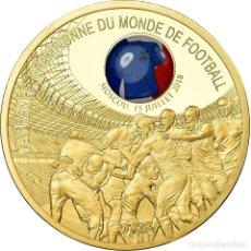 Medallas históricas: FRANCIA, MEDALLA, LA FRANCE CHAMPIONNE DU MONDE DE FOOTBALL, MOSCOU, 2018, FDC. Lote 195492225
