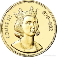 Medallas históricas: FRANCIA, MEDALLA, LES ROIS DE FRANCE, LOUIS III, HISTORY, FDC, ORO VERMEIL. Lote 195500615