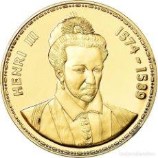 Medallas históricas: FRANCIA, MEDALLA, LES ROIS DE FRANCE, HENRI III, HISTORY, FDC, ORO VERMEIL. Lote 195509892