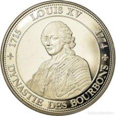 Medallas históricas: FRANCIA, MEDALLA, ROI DE FRANCE, LOUIS XV, HISTORY, FDC, COBRE - NÍQUEL. Lote 195513322