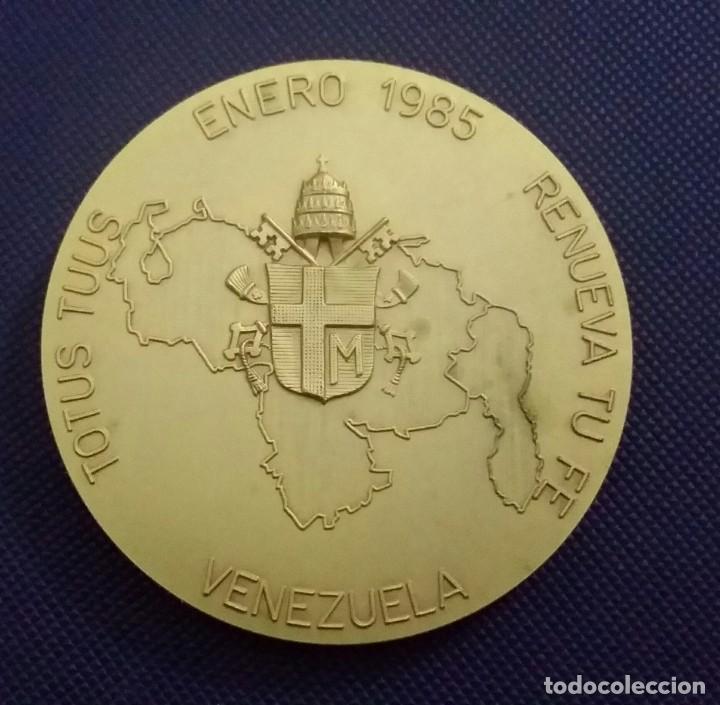 Medallas históricas: MEDALLA JUAN PABLO II EN VENEZUELA. DE A. CONSONNI. RENUEVA TU FE. JOANNES PAULUS II PONT MAX - Foto 2 - 195627871