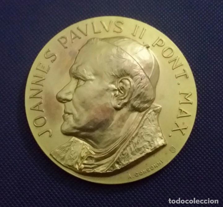 Medallas históricas: MEDALLA JUAN PABLO II EN VENEZUELA. DE A. CONSONNI. RENUEVA TU FE. JOANNES PAULUS II PONT MAX - Foto 3 - 195627871