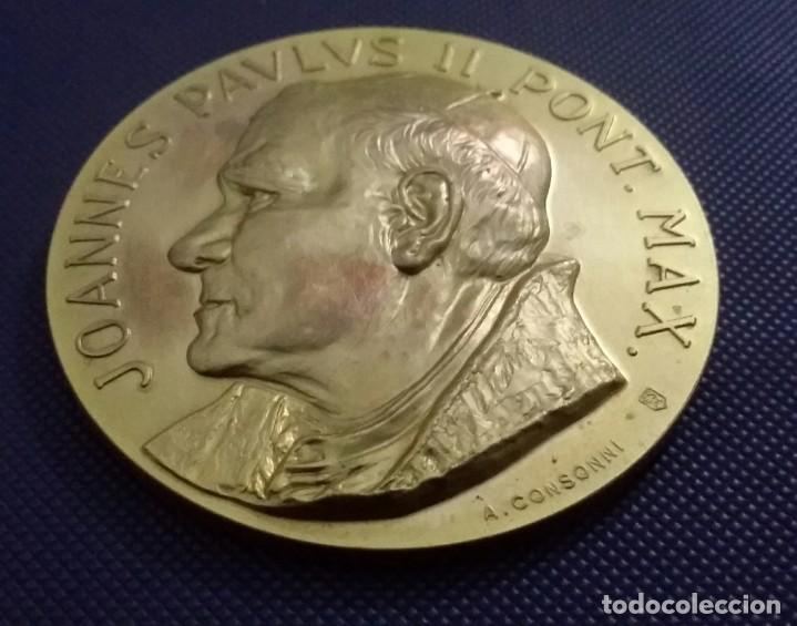 Medallas históricas: MEDALLA JUAN PABLO II EN VENEZUELA. DE A. CONSONNI. RENUEVA TU FE. JOANNES PAULUS II PONT MAX - Foto 5 - 195627871
