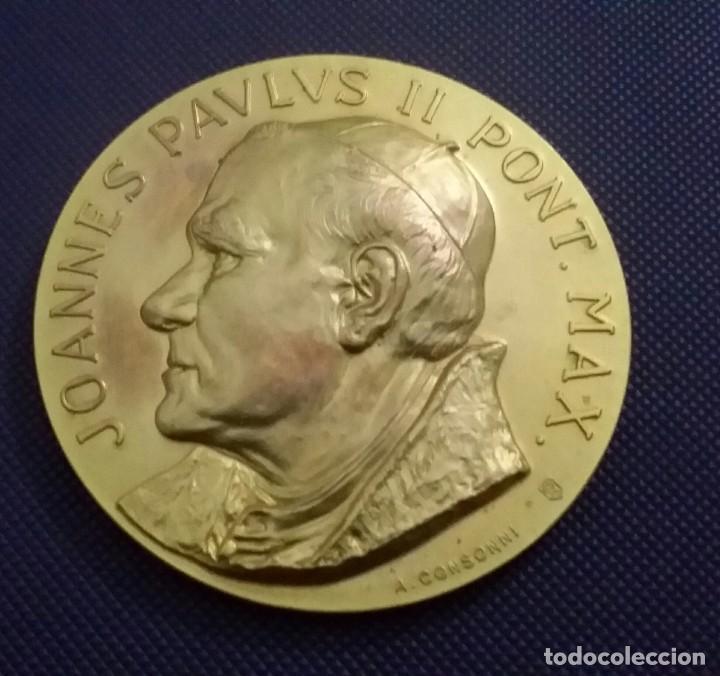 Medallas históricas: MEDALLA JUAN PABLO II EN VENEZUELA. DE A. CONSONNI. RENUEVA TU FE. JOANNES PAULUS II PONT MAX - Foto 6 - 195627871