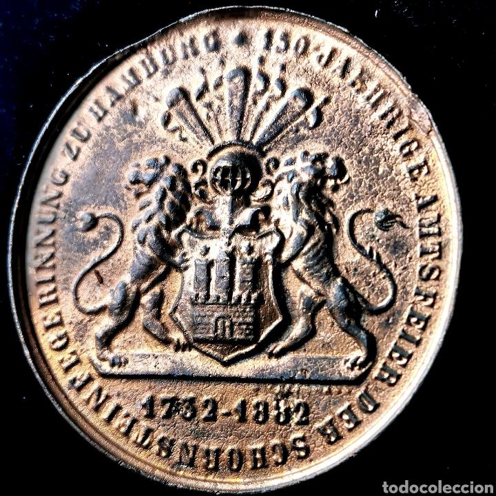 Medallas históricas: 03B. RARA. Alemania, Hamburgo, 1882 - Foto 4 - 195264870