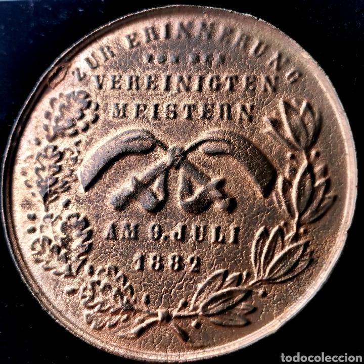 Medallas históricas: 03B. RARA. Alemania, Hamburgo, 1882 - Foto 5 - 195264870