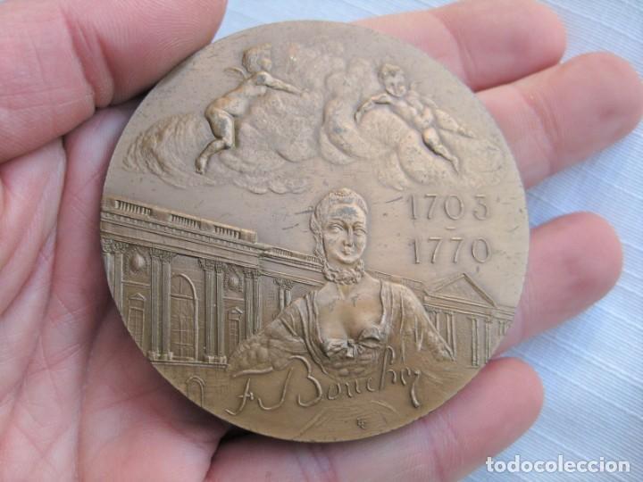 Medallas históricas: MEDALLA DE BRONCE 1966 FIRMADA C. LESOT, DEDICADA A FRANCOIS BOUCHER, PINTOR ROCOCÓ 1703-1770 - Foto 2 - 196141275